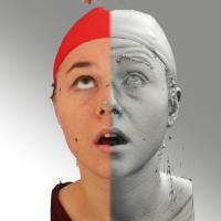 head scan of looking up emotion - Ludmila 02
