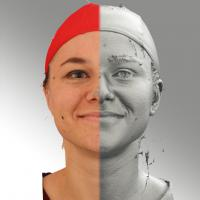 head scan of natural smiling emotion - Ludmila 03