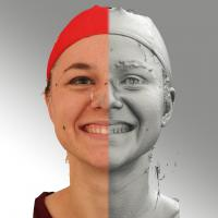 head scan of smiling emotion - Ludmila 04