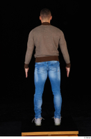 Arnost blue jeans brown sweatshirt clothing standing whole body 0005.jpg