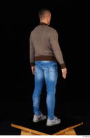Arnost blue jeans brown sweatshirt clothing standing whole body 0006.jpg