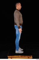 Arnost blue jeans brown sweatshirt clothing standing whole body 0007.jpg
