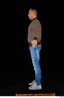 Arnost blue jeans brown sweatshirt clothing standing whole body 0011.jpg