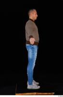Arnost blue jeans brown sweatshirt clothing standing whole body 0015.jpg