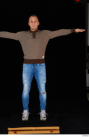 Arnost blue jeans brown sweatshirt clothing standing t-pose whole body 0001.jpg