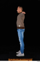 Arnost blue jeans brown sweatshirt clothing standing t-pose whole body 0003.jpg