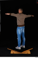 Arnost blue jeans brown sweatshirt clothing standing t-pose whole body 0004.jpg