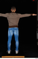 Arnost blue jeans brown sweatshirt clothing standing t-pose whole body 0005.jpg
