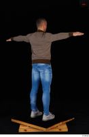 Arnost blue jeans brown sweatshirt clothing standing t-pose whole body 0006.jpg