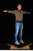 Arnost blue jeans brown sweatshirt clothing standing t-pose whole body 0008.jpg