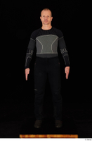 George black thermal underwear clothing standing whole body 0001.jpg