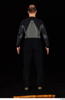 George black thermal underwear clothing standing whole body 0005.jpg