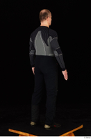 George black thermal underwear clothing standing whole body 0006.jpg