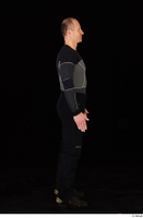 George black thermal underwear clothing standing whole body 0007.jpg