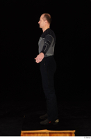George black thermal underwear clothing standing whole body 0012.jpg