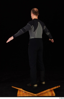 George black thermal underwear clothing standing whole body 0013.jpg