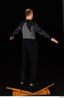 George black thermal underwear clothing standing whole body 0015.jpg