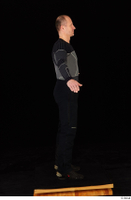 George black thermal underwear clothing standing whole body 0016.jpg