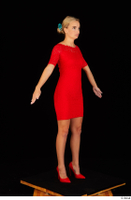 Victoria Pure red dress standing whole body 0002.jpg