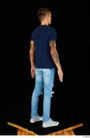 Claudio blue jeans blue t shirt grey sneakers standing whole body 0004.jpg