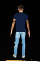 Claudio blue jeans blue t shirt grey sneakers standing whole body 0005.jpg