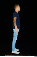 Claudio blue jeans blue t shirt grey sneakers standing whole body 0011.jpg