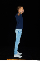 Claudio blue jeans blue t shirt grey sneakers standing whole body 0019.jpg