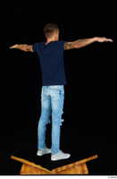 Claudio blue jeans blue t shirt grey sneakers standing whole body 0020.jpg