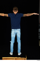 Claudio blue jeans blue t shirt grey sneakers standing whole body 0021.jpg