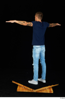 Claudio blue jeans blue t shirt grey sneakers standing whole body 0022.jpg