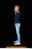 Claudio blue jeans blue t shirt grey sneakers standing whole body 0023.jpg