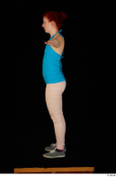 Vanessa Shelby blue tank top grey sneakers pink jeans standing t poses whole body 0007.jpg