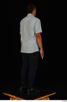 Garson black pants black sneakers grey shirt standing whole body 0006.jpg