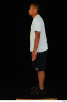 Garson black shorts black sneakers standing white t-shirt whole body 0003.jpg