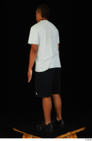 Garson black shorts black sneakers standing white t-shirt whole body 0004.jpg