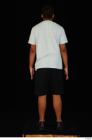 Garson black shorts black sneakers standing white t-shirt whole body 0005.jpg