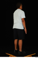 Garson black shorts black sneakers standing white t-shirt whole body 0006.jpg