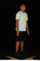 Garson black shorts black sneakers standing white t-shirt whole body 0008.jpg