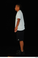 Garson black shorts black sneakers standing white t-shirt whole body 0011.jpg