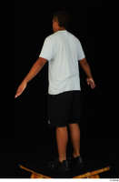 Garson black shorts black sneakers standing white t-shirt whole body 0012.jpg