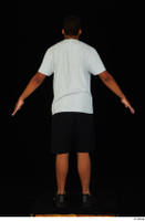 Garson black shorts black sneakers standing white t-shirt whole body 0013.jpg