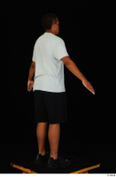 Garson black shorts black sneakers standing white t-shirt whole body 0014.jpg