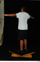 Garson black shorts black sneakers black underwear standing t poses white t-shirt whole body 0004.jpg