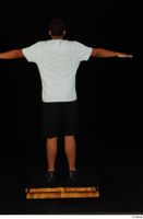 Garson black shorts black sneakers black underwear standing t poses white t-shirt whole body 0005.jpg