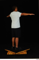 Garson black shorts black sneakers black underwear standing t poses white t-shirt whole body 0006.jpg
