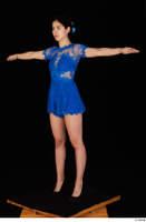 Lady Dee blue dress overall standing t poses whole body 0002.jpg