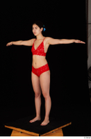 Lady Dee red underwear standing t poses whole body 0002.jpg