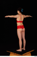 Lady Dee red underwear standing t poses whole body 0004.jpg