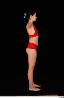 Lady Dee red underwear standing t poses whole body 0007.jpg