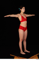 Lady Dee red underwear standing t poses whole body 0008.jpg